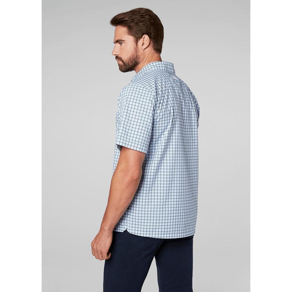 wylot w magazynie oficjalne zdjęcia Helly Hansen Men's Hp Club Quick Dry Short Sleeve Shirt, White Check, Small