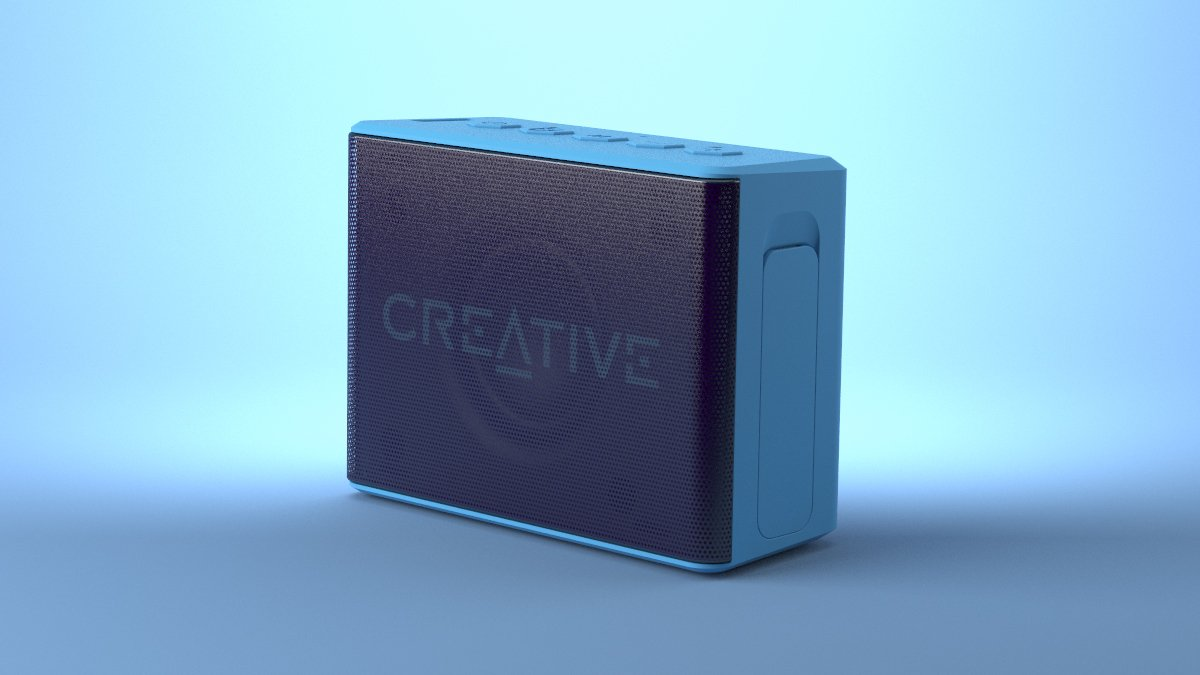 Creative MUVO 2c Palm-sized Mini Water-resistant Bluetooth Speaker with Built-in MP3 Player