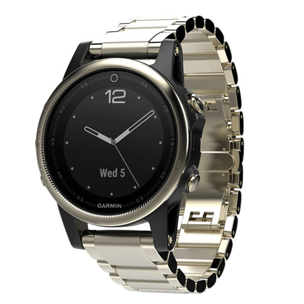 Garmin Fenix 5S Sapphire Champagne With Metal Band, One Size